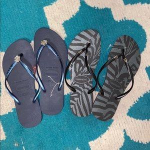 2 pairs of brand new Havaianas
